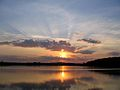 Sunset over a body of water in Russia - 2006.jpg