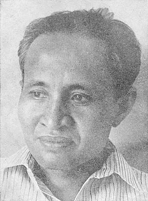 Amir Hamzah - Amir established Poedjangga Baroe with Armijn Pane (top) and Sutan Takdir Alisjahbana.