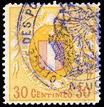 Switzerland Neuchâtel 1879 revenue 3 30c - 5C.jpg