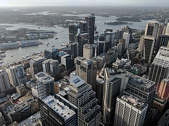 Sydney central business district - Sydney CBD as viewed from Sydney Tower