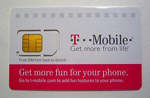 Roland Moreno -  A T-mobile SIM card utilizing Moreno's smart chip.
