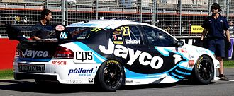 Tim Blanchard - The Team Jayco Ford BF Falcon of Tim Blanchard at Clipsal 500, 19 March 2011.