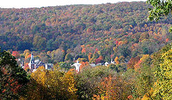 October 2003 autumn view of Thomaston from Plymouth