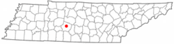 Location of Columbia, Tennessee
