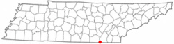 Location of Lookout Mountain, Tennessee