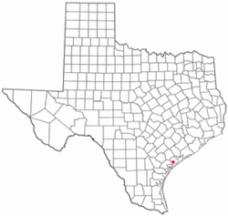 Location of Seadrift, Texas