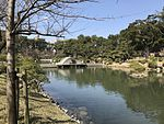 Takueichi Pond and Kokokyo Bridge in Shukkei Garden 7.jpg