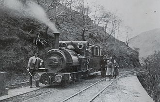Talyllyn Railway - Talyllyn at the foot of the Alltwyllt incline, the present site of Nant Gwernol station, 1890