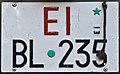 Targa automobilistica Italia 1985 EI*BL•235 Esercito Italiano posteriore.jpg