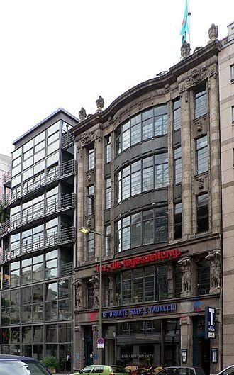 Die Tageszeitung - Seat of Die Tageszeitung in the Rudi-Dutschke-Strasse in the Berlin district of Kreuzberg