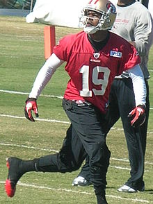 Description de l'image  Ted Ginn, Jr. at 49ers training camp 2010-08-11 2.JPG.
