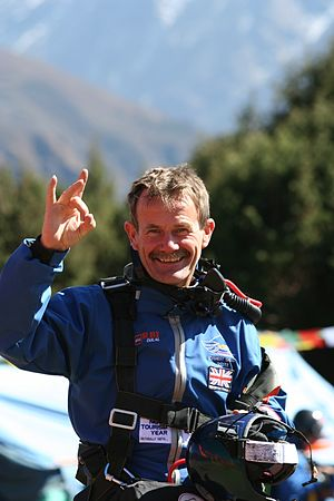 Ted Atkins - Image: Ted on Everest Skydive