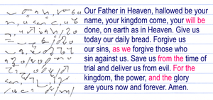 Teeline Shorthand - Image: Teeline Lords prayer