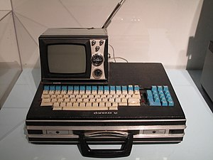 Telmac 1800 - Telmac 1800 assembled using a briefcase as a computer case.