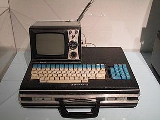 Telmac 1800 - Telmac 1800 assembled using a briefcase as a computer case.