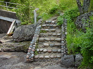 Temperance River State Park - Original stone staircase created by the Civilian Conservation Corps.
