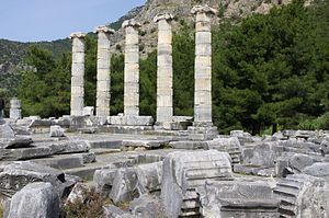 Priene - Image: Temple of Athena at Priene