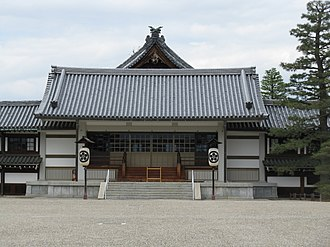 Tenrikyo Church Headquarters - The entrance to the Memorial Hall.