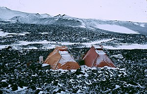 McMurdo Dry Valleys - Field camp  of scientists during the Antarctic summer, c. 1965