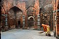 Terracotta decorated mihrabs of Mosque at Kheraul at Murshidabad district in West Bengal.jpg