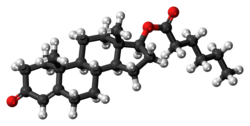 Testosterone caproate molecule ball.png