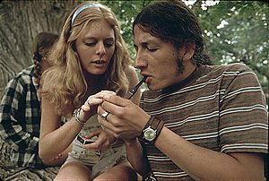 BOY AND GIRL SMOKING POT DURING AN OUTING IN C...