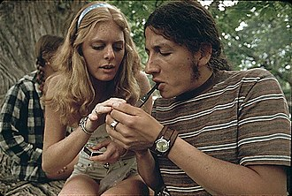 Glossary of cannabis terms - Young adults in Texas smoking cannabis in 1973