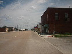 Downtown Texline on U.S. Highway 87