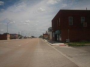 Texline, Texas - Downtown Texline on U.S. Highway 87