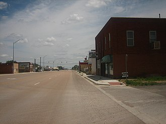 Texline, Texas - Downtown Texline on U.S. Highway 87