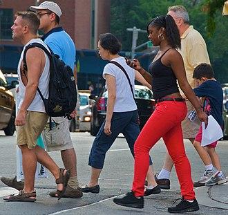 Smartphone zombie - Image: Texting in the crosswalk