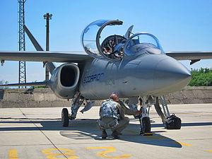 Textron AirLand Scorpion - Textron AirLand Scorpion during pre-flight check at Bulgarian air base Graf Ignatievo
