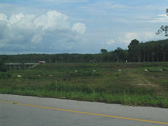 Thailand Route 44 - Wide ditch between directions