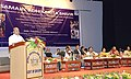 Thaawar Chand Gehlot addressing at the distribution of the aids and assistive devices to the disabled persons, organised by the Department of Empowerment of Persons with Disabilities, Ministry of Social Justice & Empowerment.jpg