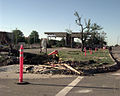 The F-5 tornado that devastated a good portion of Oklahoma City, Oklahoma just barely missed destroying Tinker AFB, Oklahoma . The base caught the outer edge of the tornado and suffered little major damage, but DF-SD-00-03247.jpg