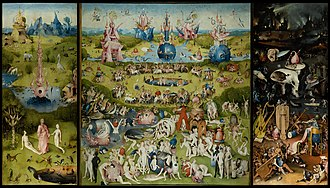Fantastic art - The Garden of Earthly Delights in the Museo del Prado in Madrid, c. 1495–1505, by Hieronymus Bosch
