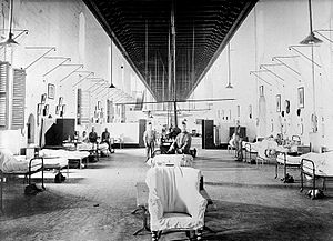 Mediterranean Conference Centre - Great Ward of the hospital in 1906 with entire original ceiling
