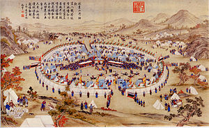 """Badakhshan -  In 1756 Badakhshan emir made the Chinese Qing dynasty to recognize the Elder of Badakhshan (the """"grey beard"""") at Alti as sovereign in Kashgar and levied taxes on the city and parts of the province of Xinjiang"""