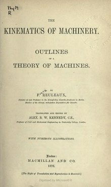 The Kinematics of Machinery.djvu