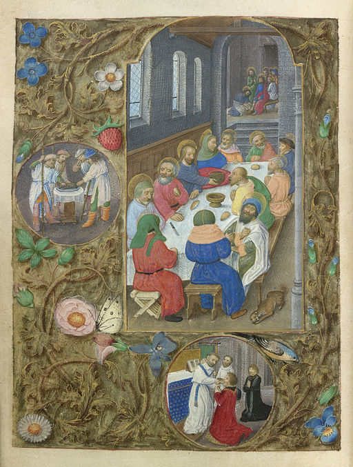 The Last Supper - So-called Hours of Philip the Fair (c.1495), f.96v - BL Add MS 17280