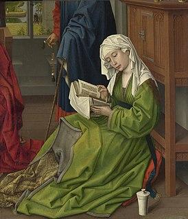 Fragment of altarpiece painting by Rogier van der Weyden