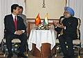 The Prime Minister, Dr. Manmohan Singh meeting the Prime Minister of Vietnam, Mr. Nguyen Tan Dung, on the sidelines of 4th East Asia Summit (EAS), in Hua Hin, Thailand on October 25, 2009 (1).jpg