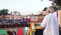 The Prime Minister, Shri Narendra Modi addressing the gathering at the Dussehra celebrations at Madhav Das Park, Red Fort, on the auspicious occasion of Vijay Dashmi, in Delhi on September 30, 2017 (2).jpg