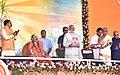 The Prime Minister, Shri Narendra Modi releasing the Souvenir at the Dashamah Soundarya Lahari Parayanotsava Mahasamarpane, in Bengaluru, Karnataka.jpg