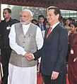 The Prime Minister, Shri Narendra Modi shaking hands with the Prime Minister of Socialist Republic of Vietnam, Mr. Nguyen Tan Dung, at the Ceremonial Reception, at Rashtrapati Bhavan, in New Delhi on October 28, 2014 (1).jpg