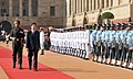 The Prime Minister of Thailand, Mr. Abhisit Vejjajiva inspecting the guard of honour, at the ceremonial reception, at Rashtrapati Bhawan, in New Delhi on April 05, 2011.jpg