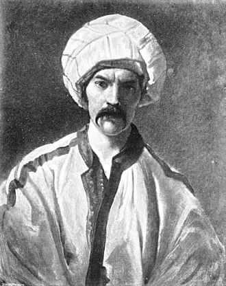 "Richard Francis Burton - Burton in Persian disguise as ""Mirza Abdullah the Bushri"" (ca. 1849–50)"