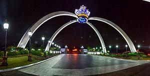Istana Bukit Serene - The Royal Crown of Johor replica in Istana Bukit Serene.
