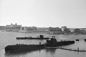 Marsamxett Harbour - Royal Navy submarines at Manoel Island in World War II