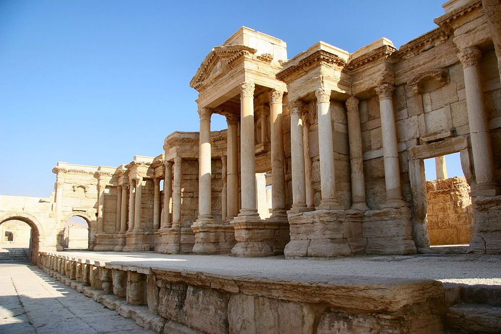 Los tesoros de Palmira 1024px-The_Scene_of_the_Theater_in_Palmyra